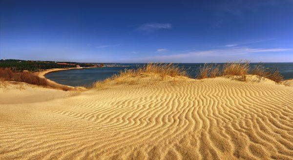 Nida sand beach